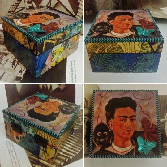 """Cajita """" Frida and friends"""". Vendido /Sold out. (GloriArte143)"""
