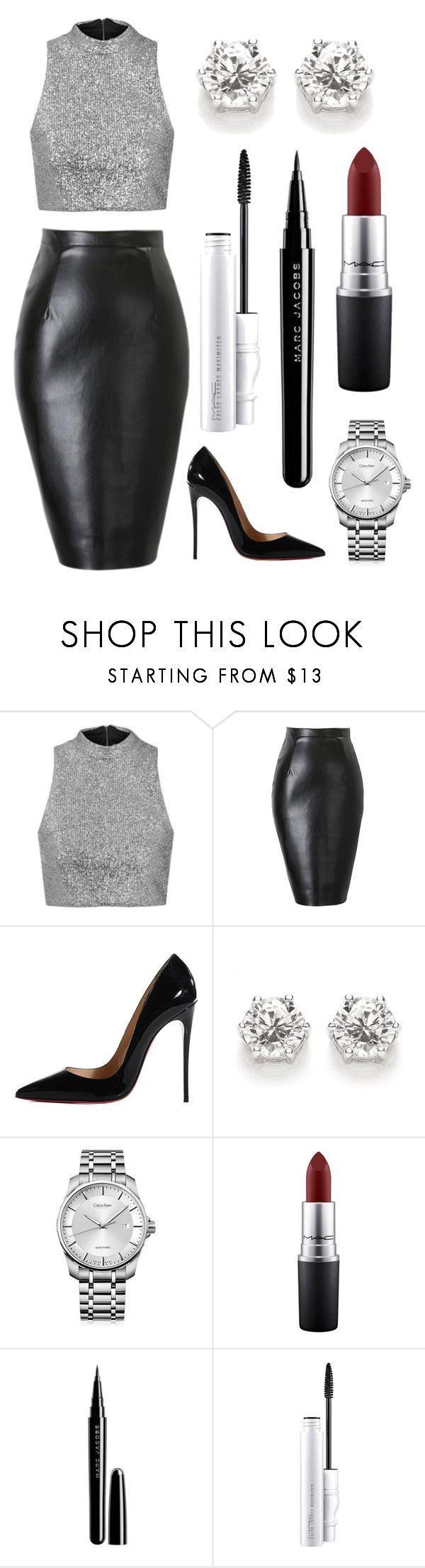 """""""Untitled #84"""" by rodoulla97 on Polyvore featuring Topshop, Christian Louboutin, Calvin Klein, MAC Cosmetics and Marc Jacobs"""