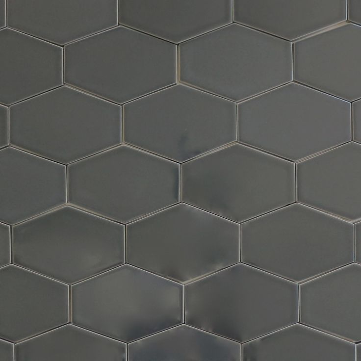 Clayhaus Stretch Hex Carbon Dark Gray Ceramic Tile Our