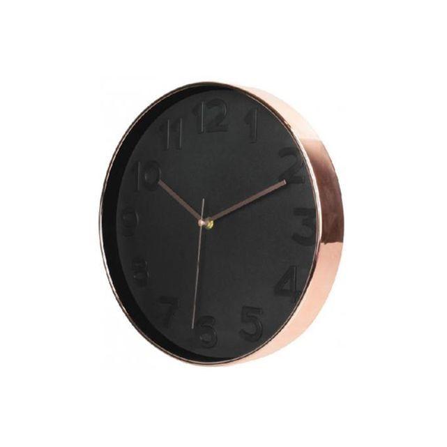Horloge Ronde Noire Et Cuivre D30 SANDUHR DECLIKDECO : prix, avis & notation, livraison.  Caracteristique du Horloge Ronde Noire Et Cuivre D30 SANDUHR sur Declikdeco :Caractéristiques :Couleur : Noir et cuivreMatière : PlastiquePoids : 0,70 kgDimensions : 30,7cmFonctionne avec 1 pile AA LR06 non-incluse.