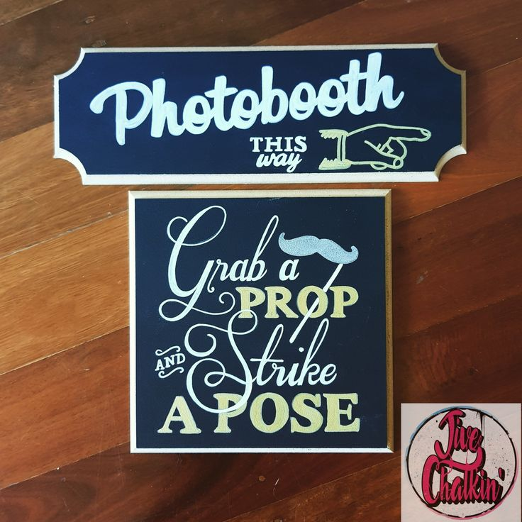 Photobooth chalkboard signs for a wedding.