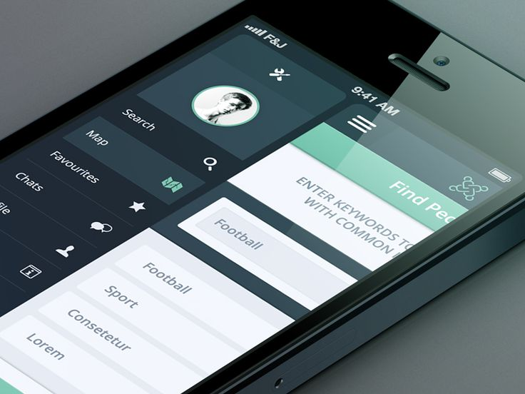 CityHub UI/iPhone App Preview by Florian Gampert (Munich)