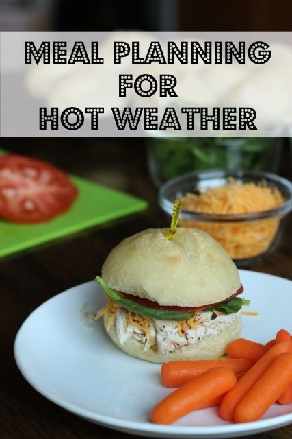 Meal Planning for Hot Weather - eat and home, save money, AND stay cool.