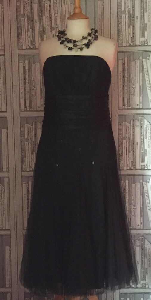 Silk Mix Dress By Monsoon Size 16