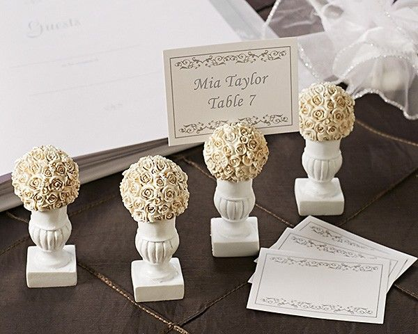 Rose Blossoms Place Card Photo Holder