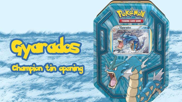 Unboxing - Pokemon Tin: Gyarados Champion Tin