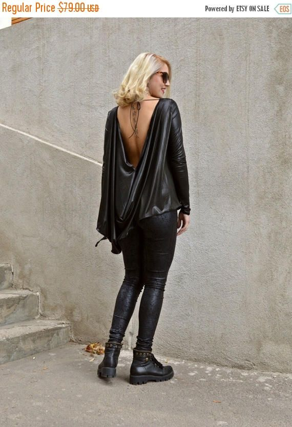 New in our shop! SALE 15% OFF Black Asymmetrical Tunic / Black Ponte Di Roma Tunic / Black Backless Top / Backless Loose Top TT70 https://www.etsy.com/listing/257736920/sale-15-off-black-asymmetrical-tunic?utm_campaign=crowdfire&utm_content=crowdfire&utm_medium=social&utm_source=pinterest