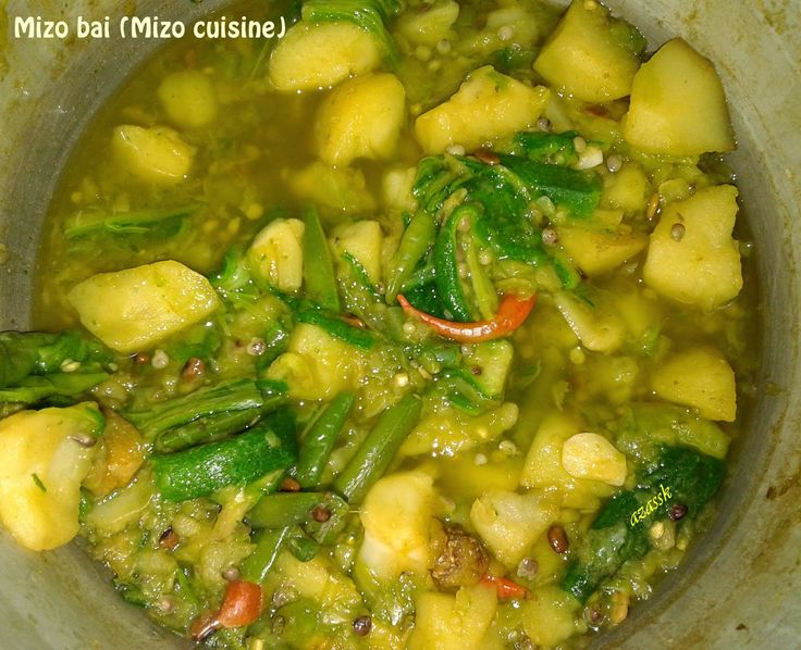 Calm-Sojourner: The tasty Mizo bai (Mizo cuisine/Mizo food item)
