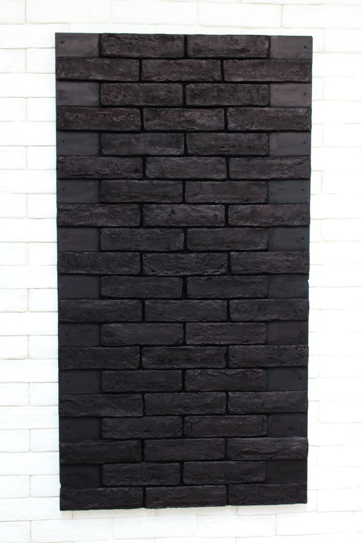 Panel ladrillo negro.