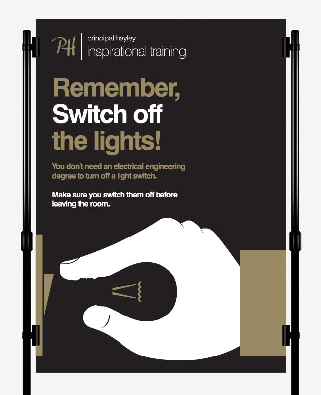 Switch Off The Lights Campaign Poster