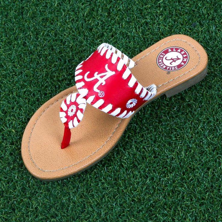 NCAA Alabama Crimson Tide Whipstitch Sandals