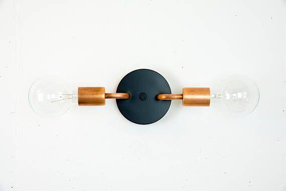 Copper Wall Sconce Schwarze Wandleuchte Vanity Lighting