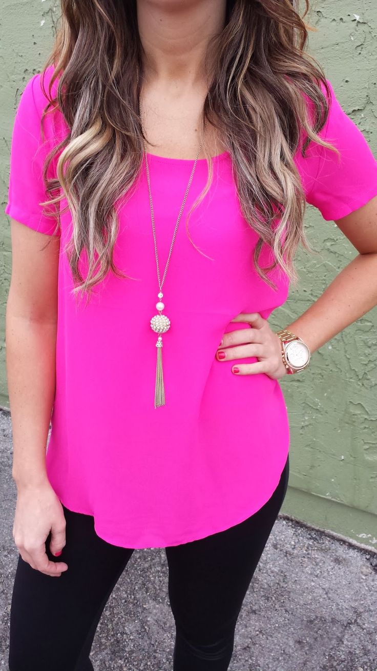17 Best ideas about Hot Pink Shirts 2017 on Pinterest | Hot pink ...