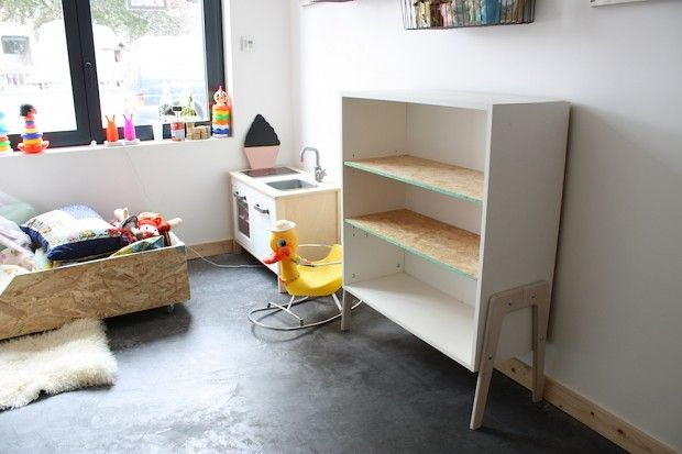 bibliothèque enfant design scandinave