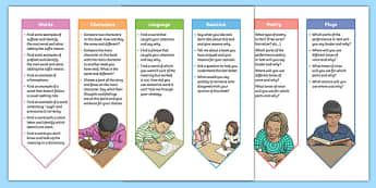 Year 3 and 4 Guided Reading Bookmarks