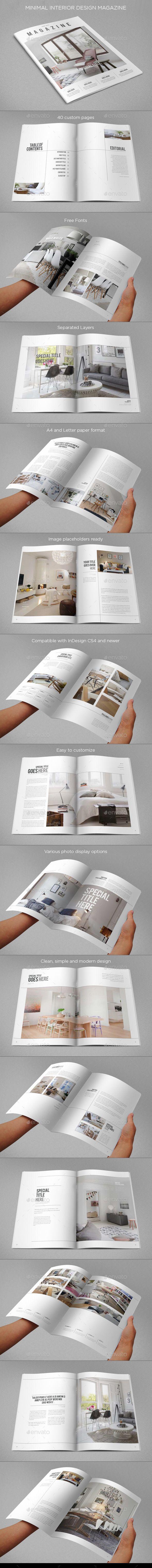 Minimal Interior Design Magazine Template   Download: http://graphicriver.net/item/minimal-interior-design-magazine/9499179?ref=ksioks