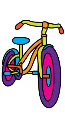 How to Draw a Bicycle for Kids step 6