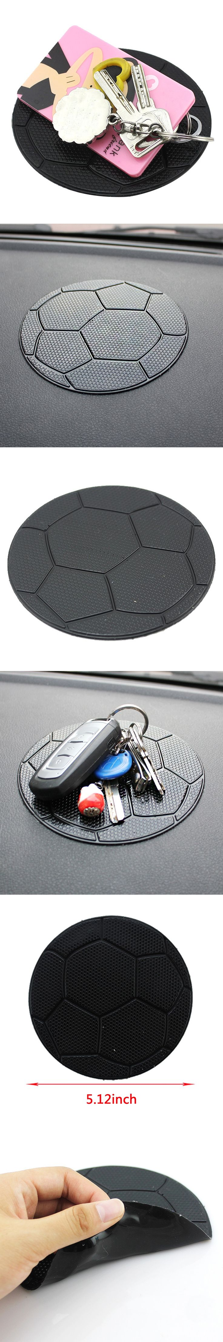 Dewtreetali 1pc Interior Car Football Anti-Slip Dashboard Sticky For Pad Non-slip Mat Holder GPS Cell Phone Key Holder