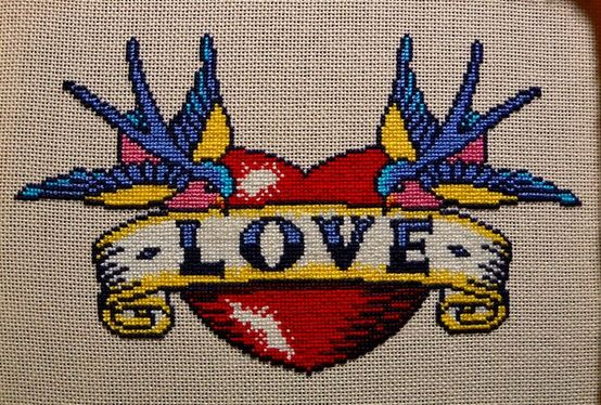 tattoo cross stitch