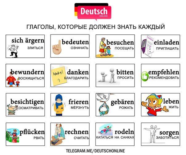 Немецкий с картинками онлайн