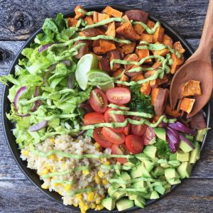 Taco Bowl with Avocado Lime Dressing...Move over Cafe Rio!