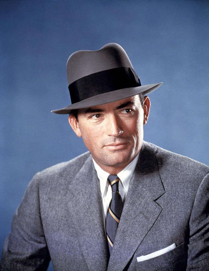 Publicity shot of Gregory Peck for the rather depressing 50s movie The Man in the Gray Flannel Suit (1956)