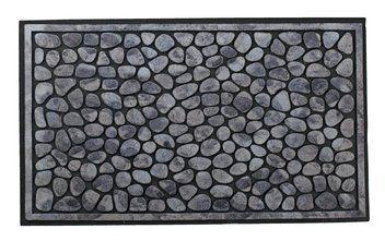 Dørmåtte OXEL 45x76cm stenlook grå   JYSK
