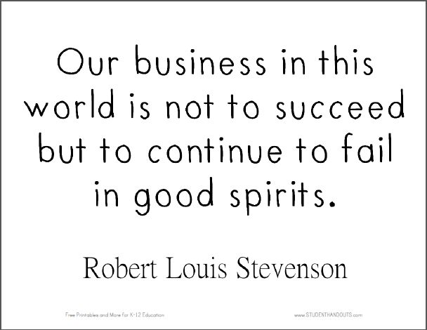 """Robert Louis Stevenson Quote 