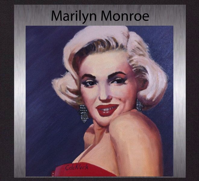 Marilyn Monroe - Original Oil Painting. Gallery Quality Fine Art. Free Shipping. by ElcoStudio on Etsy