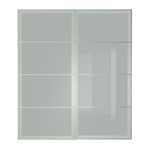 300 SEKKEN Jeu 2 ptes coul - 200x236 cm, accessoire de fermeture silencieuse - IKEA
