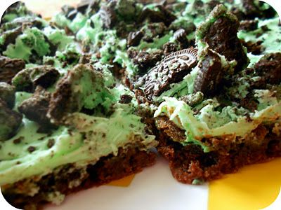 Mint Oreo Cookie Brownie Bars