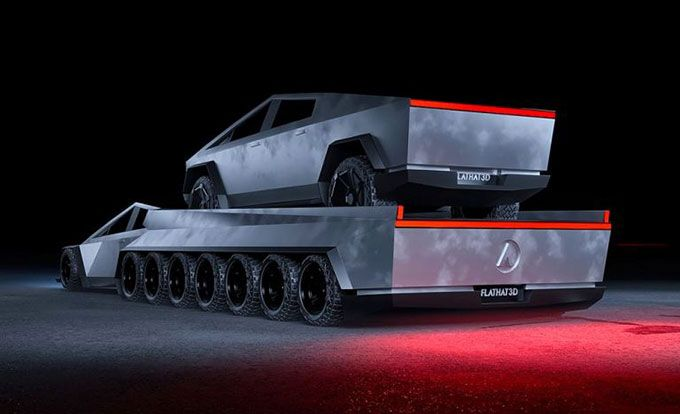 13 Amazing Tesla Cybertruck Redesign Design With Red Tesla Concept Cars Custom Cars