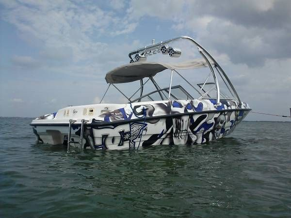 2003 Bayliner 185 with a Big Air Ice tower and Speaker Light Bar Combo // universal wakeboard tower // Bayliner Boats // boat tower // universal wakeboard tower // wakeboard towers for sale // boat wakeboard tower // boat towers for sale // cheap wakeboard tower // folding wakeboard tower // collapsible wakeboard tower // aluminum wakeboard tower // kicker speakers // wakeboard tower speakers // wakeboard tower light bar