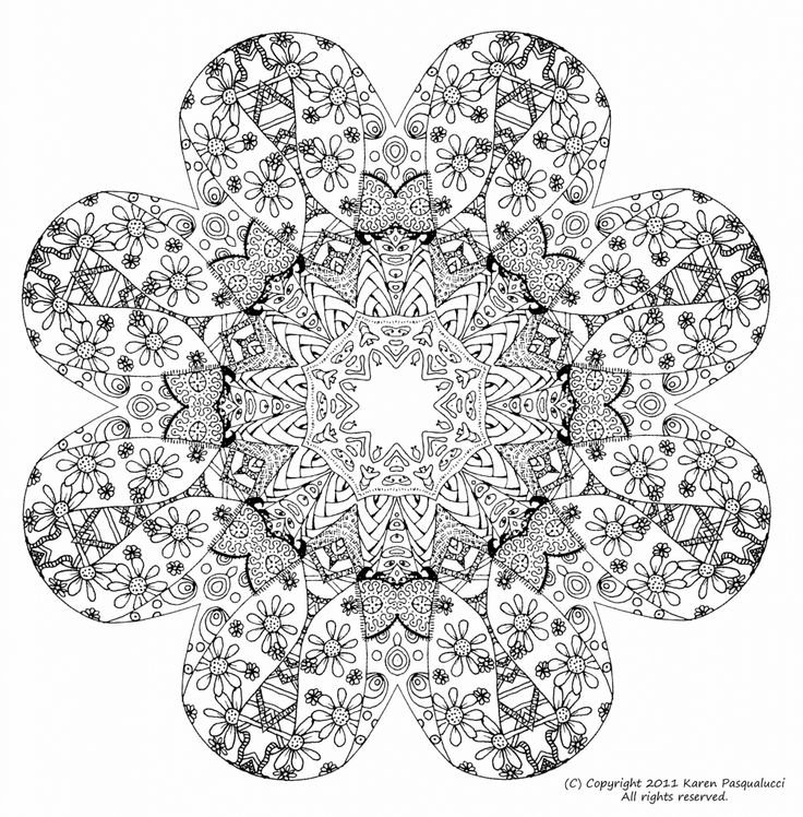 Free Floral Doodle Art Printable Coloring Sheet For Adult