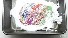 Papier mit Rasierschaum mamorieren