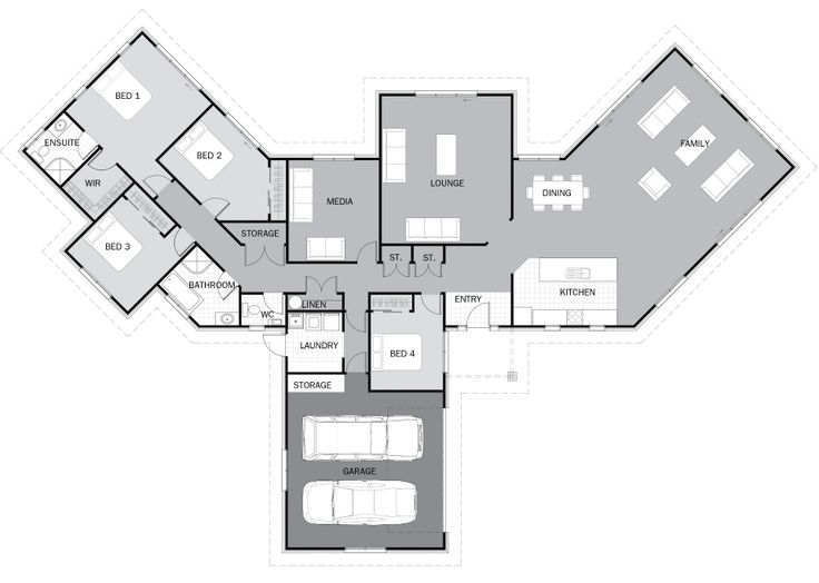 74 best images about l shape house plans on pinterest L shaped building