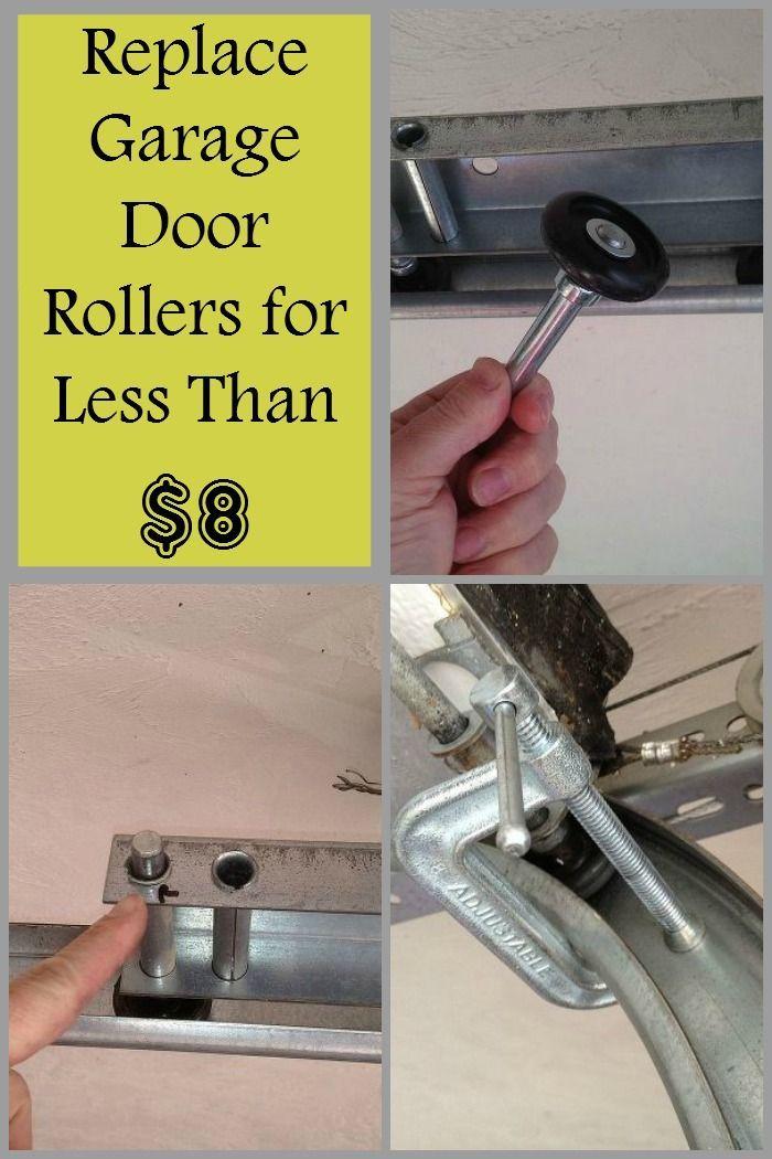 How To Replace Garage Door Rollers For Less Than 8 00 Homesecuritydiyhowtobuild Garage Door Rollers Garage Doors Diy Garage Door