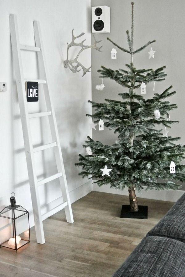 christmas decorations ideas scandinavian white natural materials