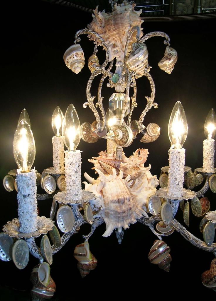 102 Best Seashell Chandelier Images On Pinterest