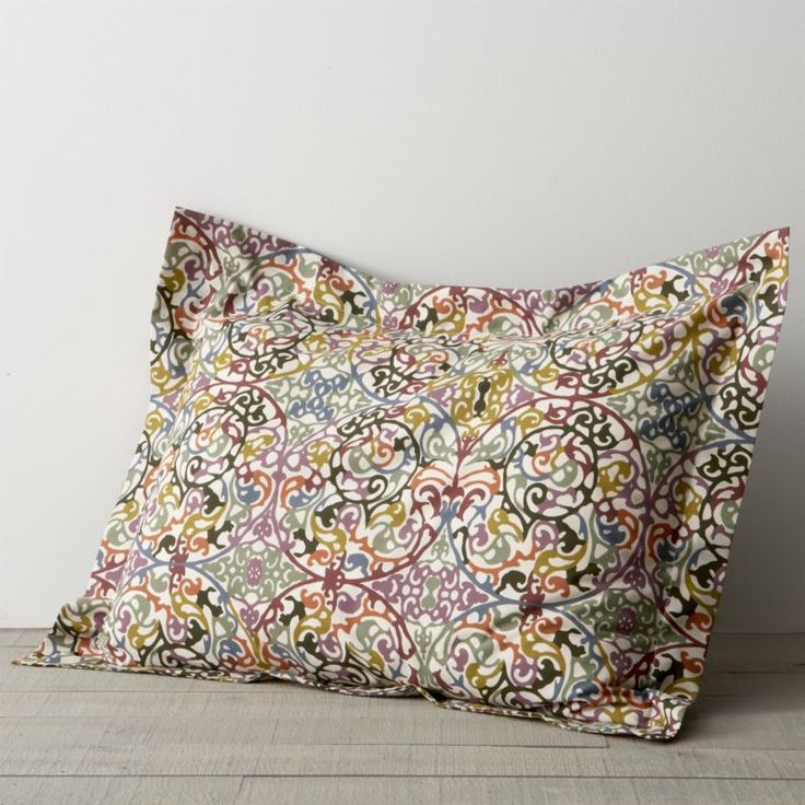 Lucia Standard Pillow Sham  | Crate and Barrel