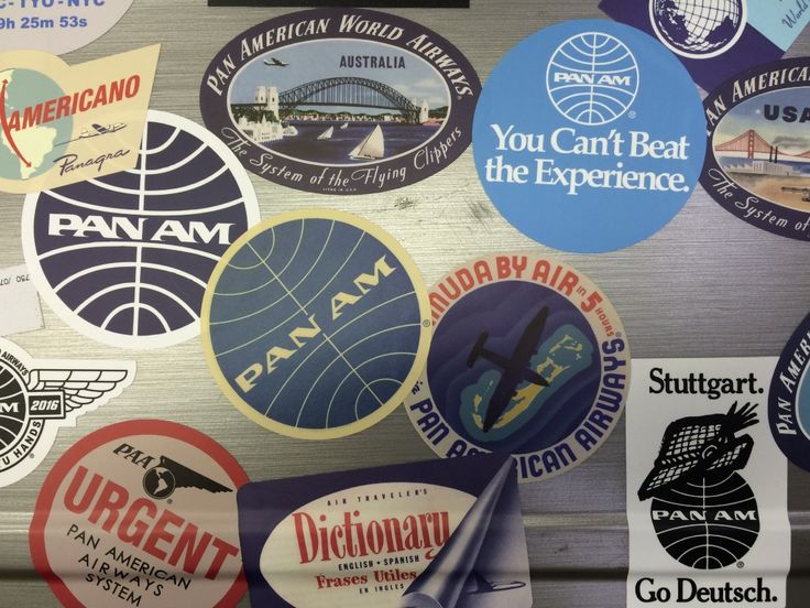 PAN AM'S WORLD TRAVEL STICKERS/LUGGAGE LABELS