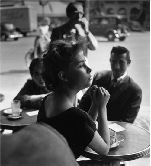 Cafe, Saint-Germain-des-Prés, Paris, 1952, photo by Ed van der Elsken