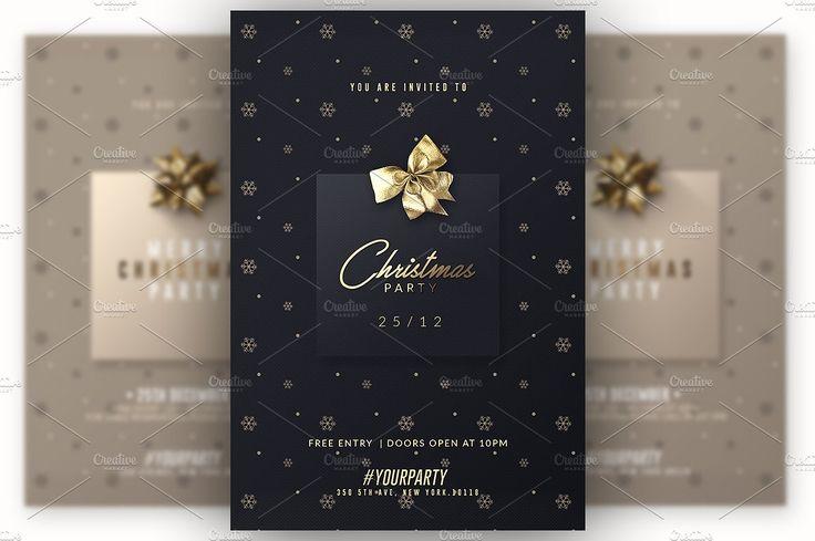 2 Classy Christmas | Psd Invitations by Creative Flyers on @creativemarket