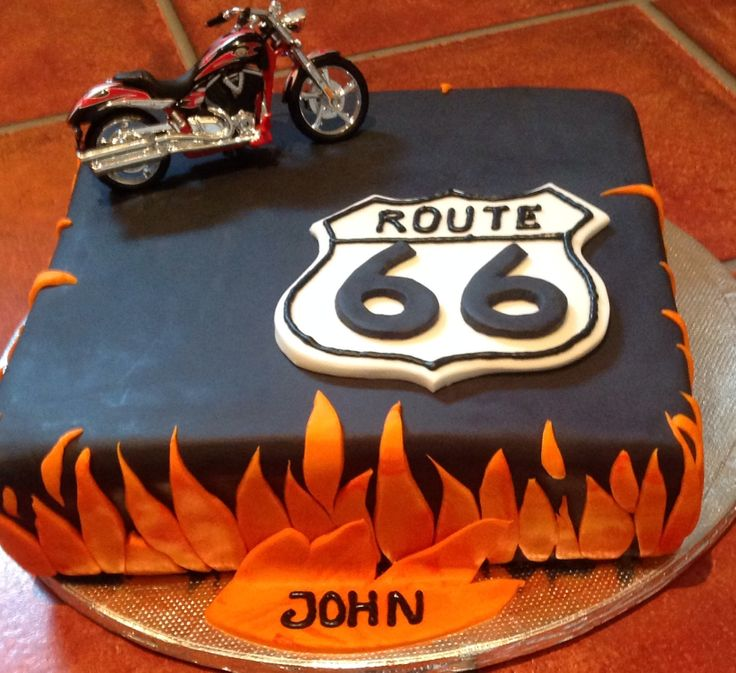 Harley Biker Route 66 Cake By Flour Power Guernsey Flour