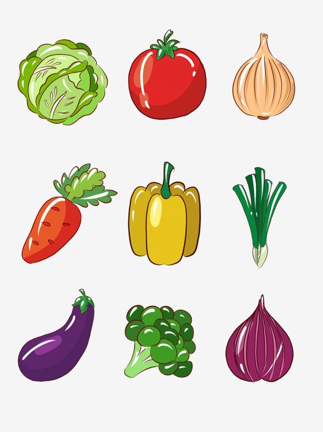 Simple Vegetable And Fruit Hand Drawn Cartoon Vegetable Small Elements And Vegetable Food Cartoon Foo Vegetable Cartoon Fruits And Vegetables Images Vegetables