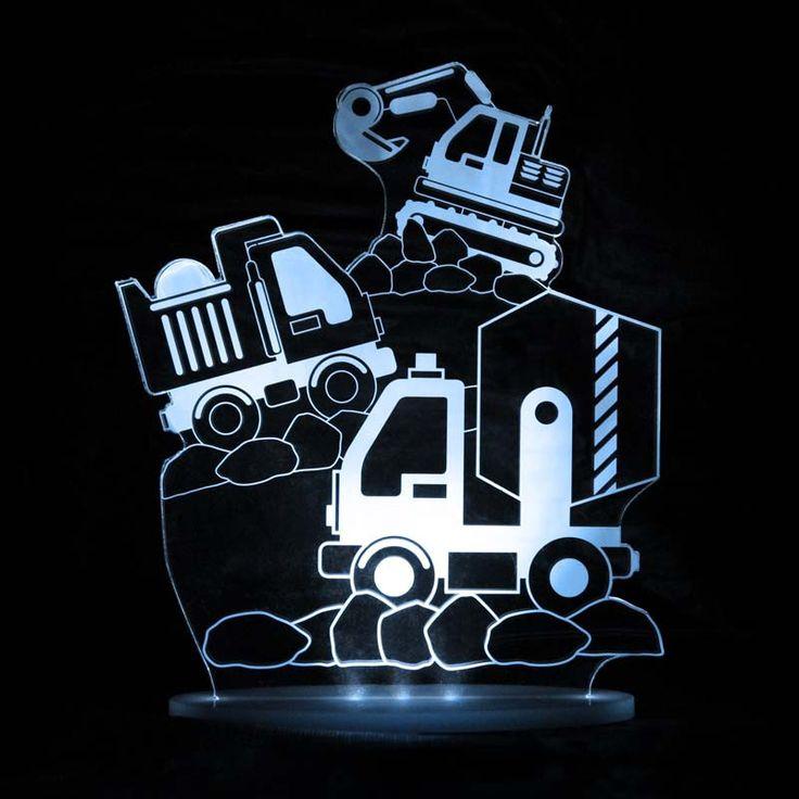 Construction trucks night light