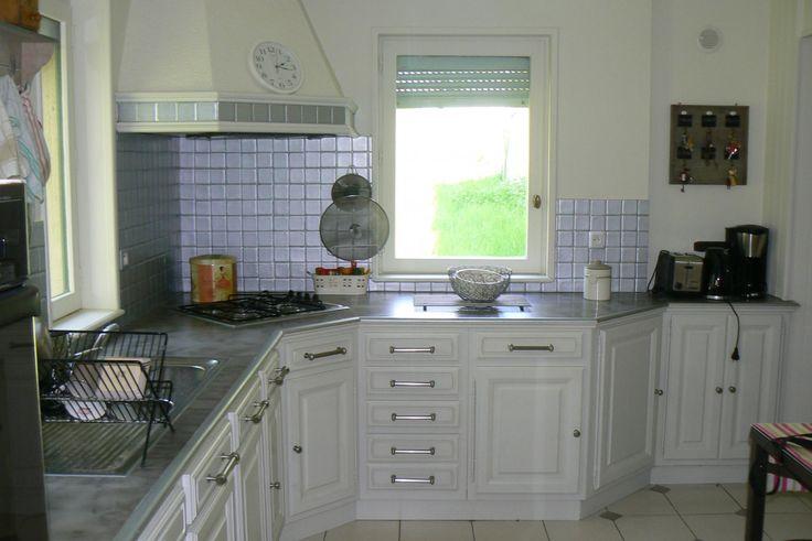 Relooker une cuisine rustique en chene photos de for Relooker cuisine en chene