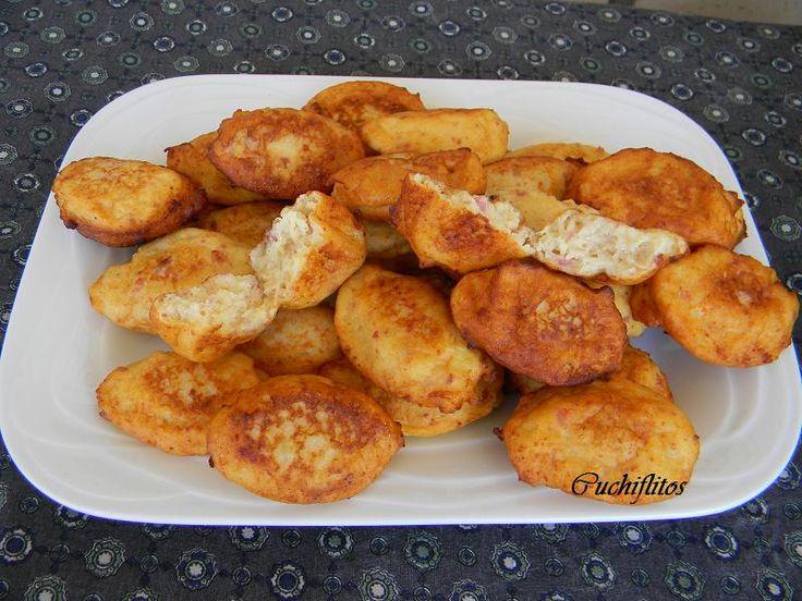 Cuchiflitos: Patatas huecas con jamón