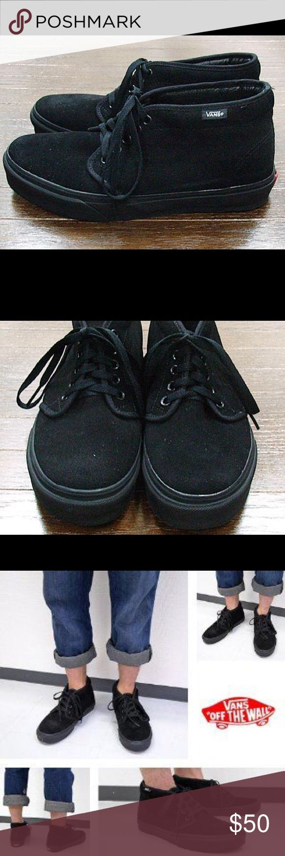 Vans Suede All Black Chukka Boot All black vans chukka boot style women's size 8 men's size 6.5. Perfectly condition never worn. Vans Shoes Sneakers