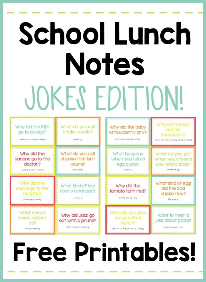 Your kids will LOVE opening their lunch and finding these silly jokes! These free printables make it so easy!